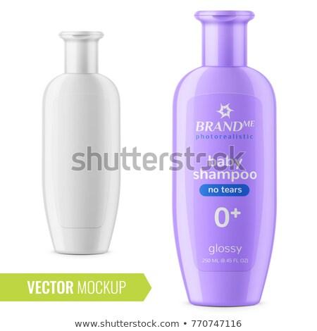 Lila sampon üveg víz test szépség Stock fotó © ozaiachin