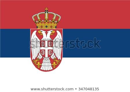 Serbian flag Stock photo © stevanovicigor
