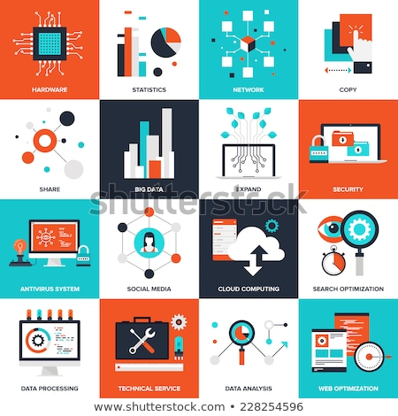 Databases concept icon with graph in chart  Stock photo © 4designersart