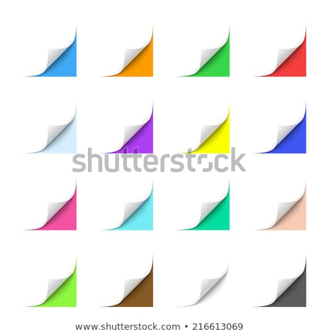 close up of pink paper with curl on white background Stock photo © Zhukow