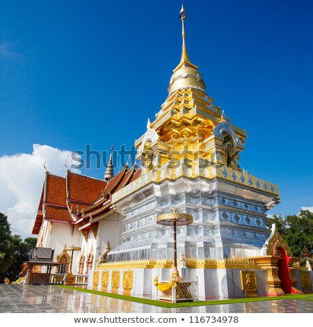 roof of the building at the White Temple in Chiang Mai Stock photo © RuslanOmega