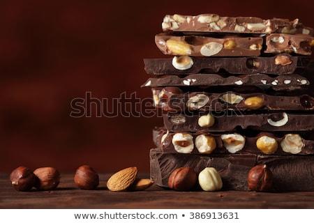 hazelnuts almonds and chocolate stock photo © lunamarina