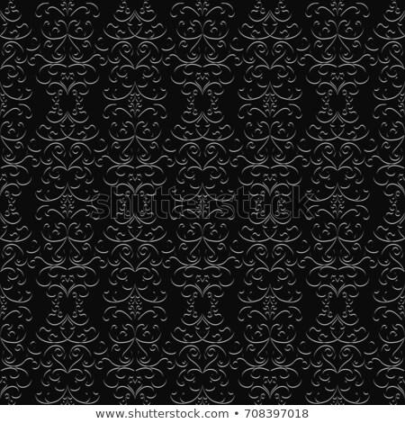 Silver brocade pattern Stock photo © Anterovium