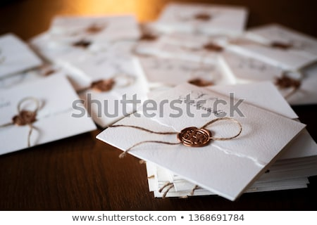 Closeup of old letters with wax seal Stock photo © kalozzolak