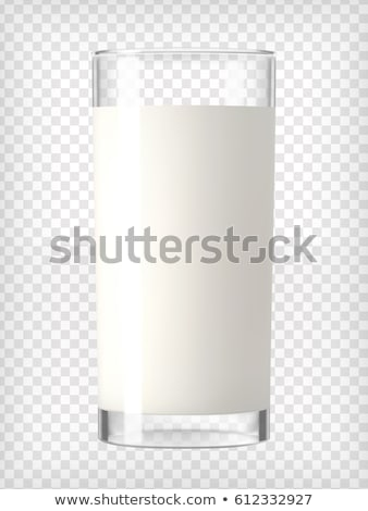 Glass of Milk with Clipping Path Stock photo © songbird