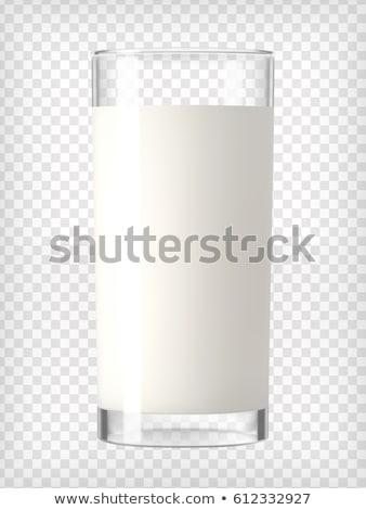 süt · yalıtılmış · beyaz · cam · sıvı - stok fotoğraf © songbird