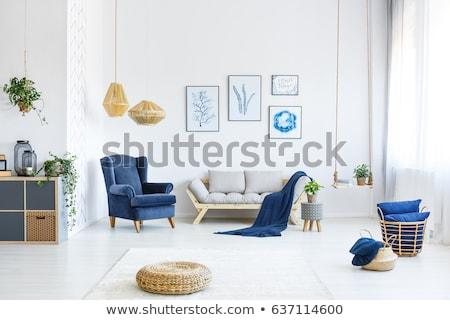 simple blue interior stock photo © imaster