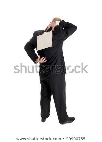 fashion - men - businessman backside kick me Stock photo © dgilder