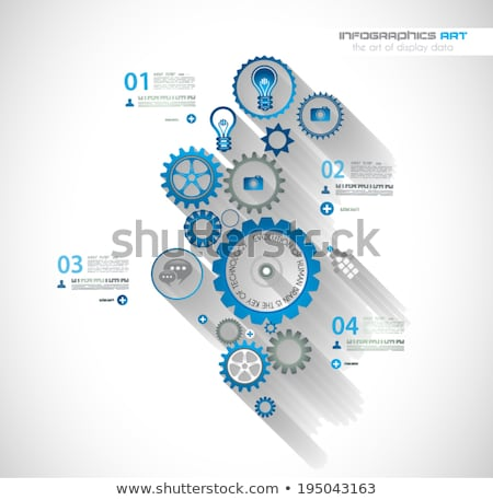 infographic timeline with gear mechanic stock photo © davidarts