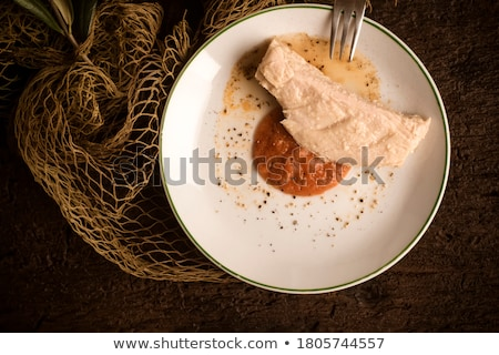 Albacore on rustic wooden Stock photo © marimorena