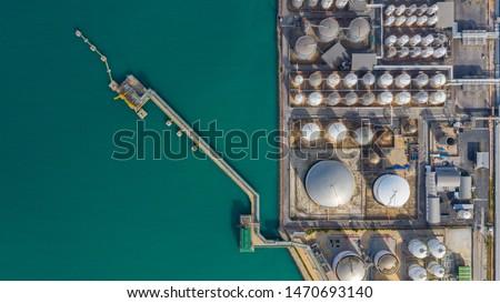 oil storage tanks Stock photo © compuinfoto