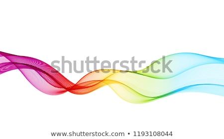rainbow wave line Stock photo © redshinestudio