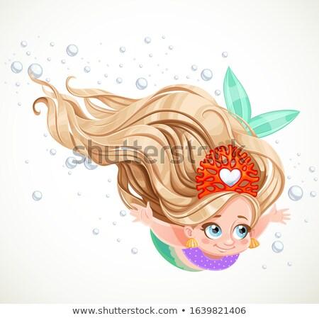 женщины подводного лице пузырьки взрослый Бассейн Сток-фото © ElinaManninen