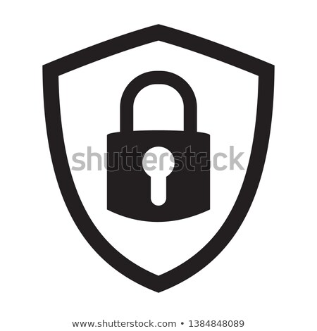 Schild slot internet bescherming computer veiligheid Stockfoto © fenton