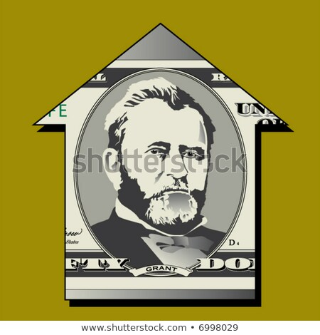 Casa cinqüenta papel casa fundo Foto stock © njnightsky