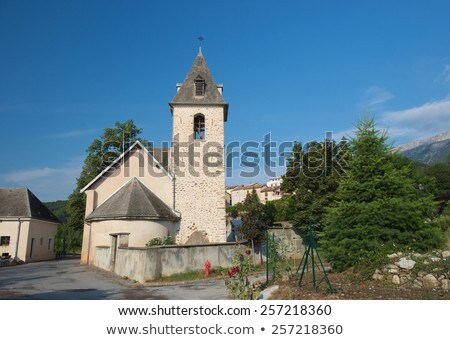 аббатство · Франция · деревне · лес · пейзаж - Сток-фото © ivonnewierink
