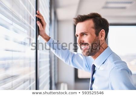 başarılı · işadamı · gülen · portre · beyaz · gülümseme - stok fotoğraf © nyul