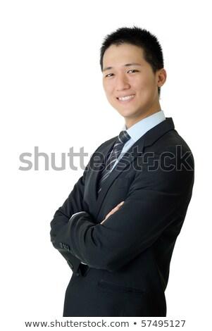 незрелый молодые бизнесмен портрет азиатских Сток-фото © elwynn