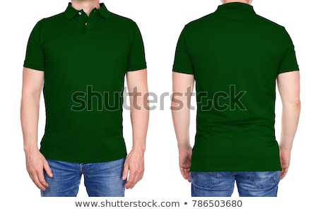 Vert polo rose design art adolescent Photo stock © ozaiachin