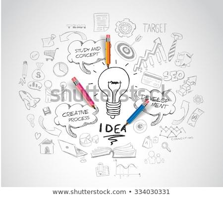 Soldi idea moderno business vettore Foto d'archivio © vectorikart