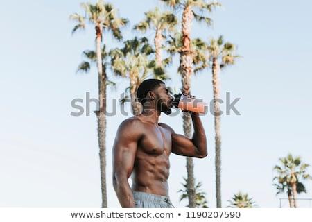 fitness male model with sixpack Stock photo © stryjek
