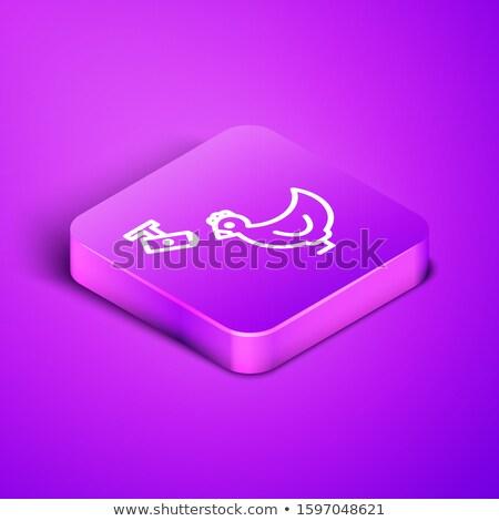 Cctv teken paars vector icon knop Stockfoto © rizwanali3d