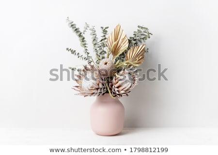Felső arany váza rusztikus díszítő háttér Stock fotó © esatphotography