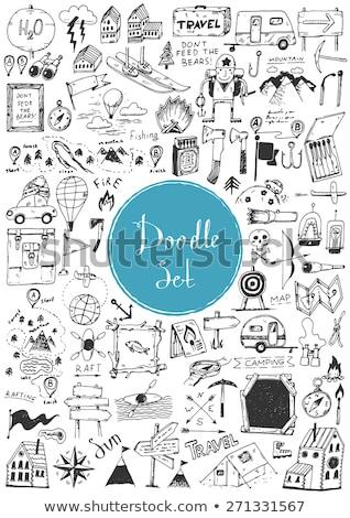 Doodle vector set of adventure Stock photo © netkov1