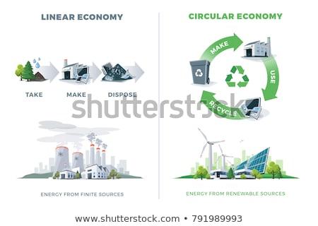 Illustration of use natural resource.  Stock photo © ayaxmr