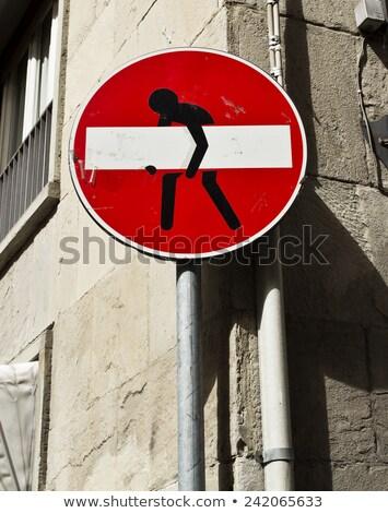 FLORENCE trafic signes panneaux de signalisation routière Italie Photo stock © m_pavlov