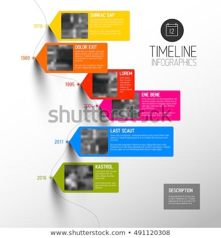Infografica timeline relazione modello foto colorato Foto d'archivio © orson