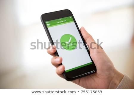 スマートフォン アプリ 携帯 支払い 女性 エレクトロニクス ストックフォト © stevanovicigor