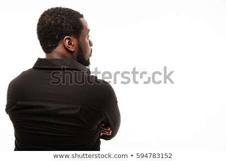 Back view photo of amazing young african man Stock photo © deandrobot