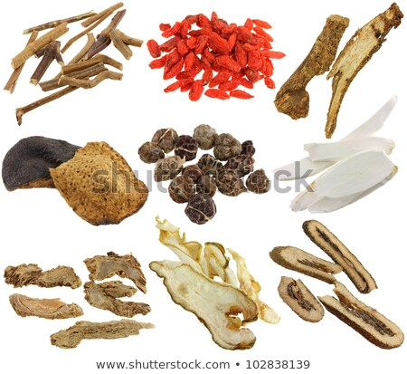 Mandarijn schil kruiden specerijen witte lineair Stockfoto © shutter5