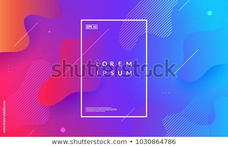 корпоративного · личности · шаблон · дизайна · оранжевый · цвета - Сток-фото © fresh_5265954