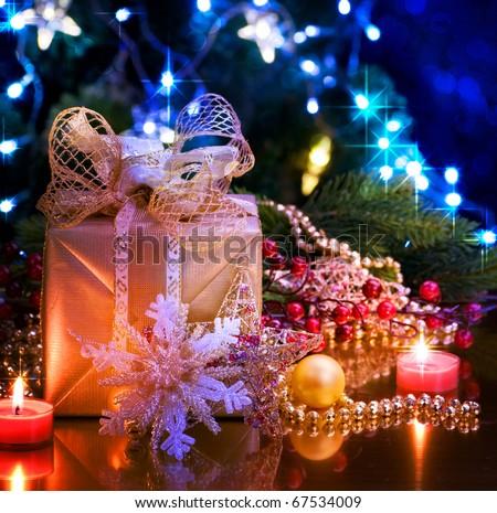 natal · férias · estrelas · vela · tamanho - foto stock © simply