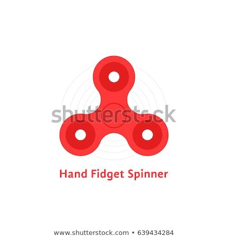 geïsoleerd · vinger · speelgoed · stress · hand · witte - stockfoto © biv