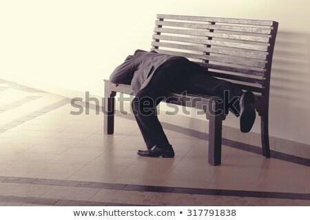 inconscient · homme · dormir · parc · ivre · bière - photo stock © wavebreak_media