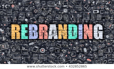 rebranding concept with doodle design icons stock photo © tashatuvango
