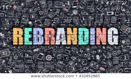 Rebranding Concept with Doodle Design Icons. Stock photo © tashatuvango