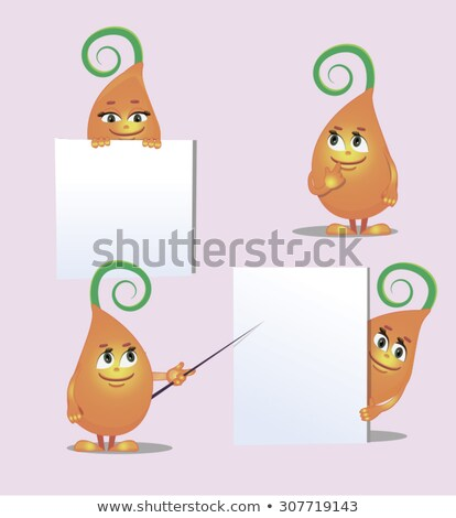 cute monster  sprout from different angles stock photo © olena