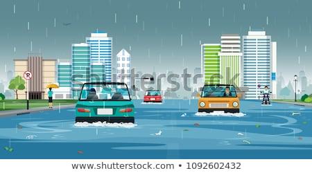Auto water vector wereld groene macht Stockfoto © vectorworks51
