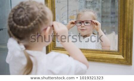 少女 見える ベニスの ミラー 子 楽しい ストックフォト © IS2