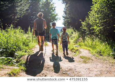 Family hiking on Mountain, Stock photo © IS2