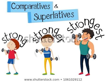 Comparatives & Superlatives illustration Stock photo © bluering