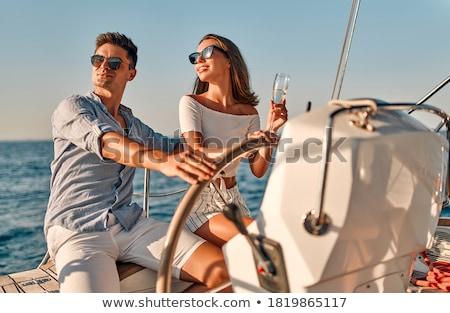 Elegante paar vakantie vrouw auto Stockfoto © majdansky