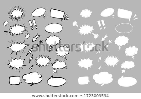 чате · пузырь · наклейку · иллюстрация · бумаги · стиль · искусства - Сток-фото © sarts