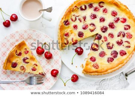 Traditional french sweet fruit dessert clafoutis Stock photo © Melnyk