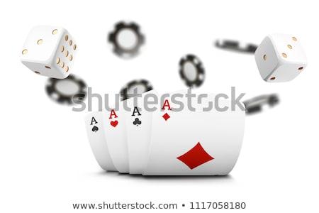 Cassino ilustração flutuante branco vetor jogos de azar Foto stock © articular