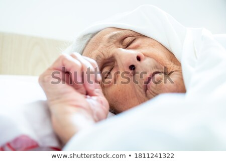 Arab old women_sickness Stock photo © toyotoyo